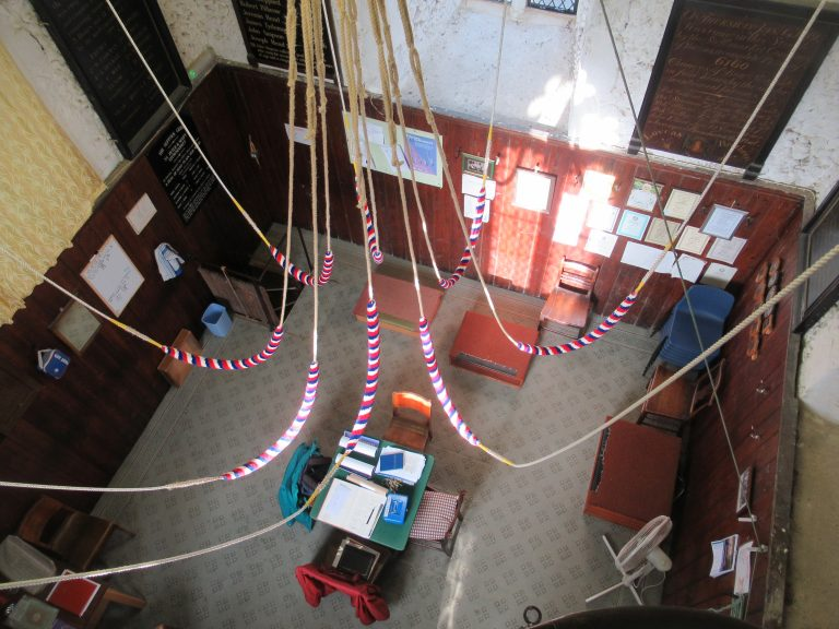 Ringing room from above
