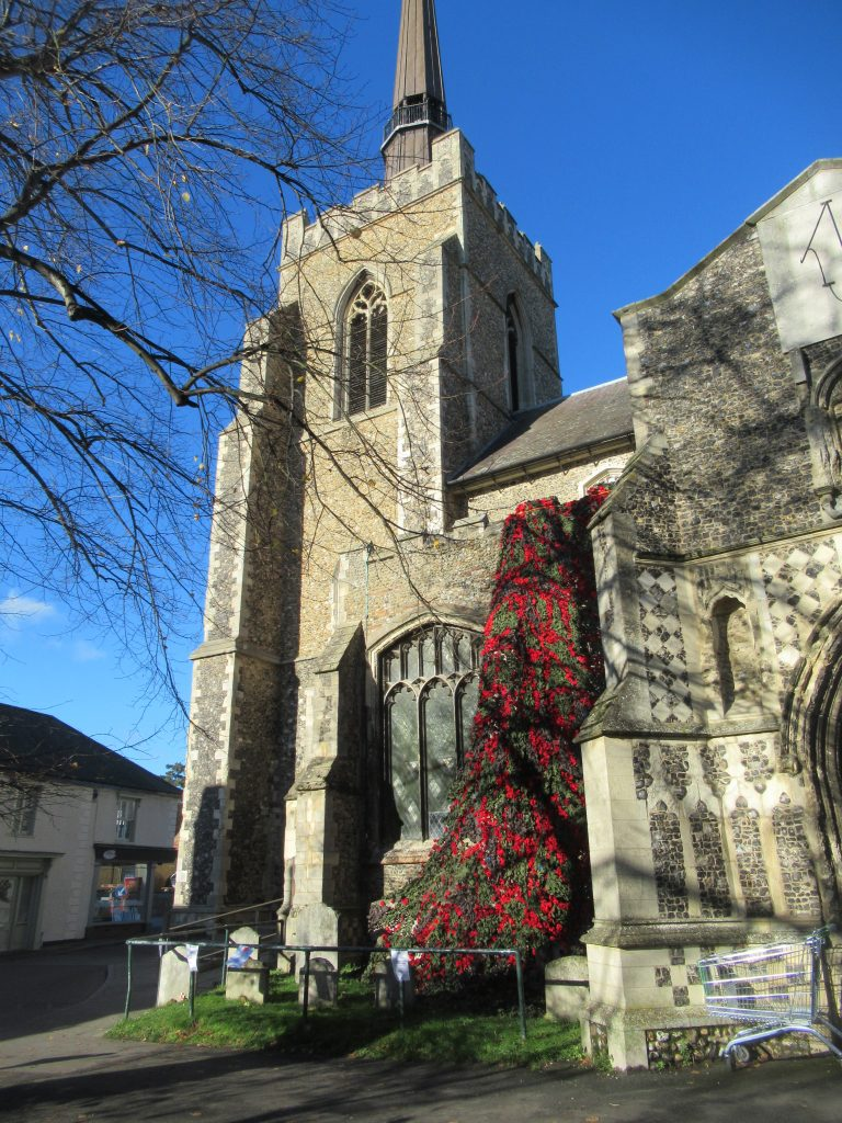Bell Tower with Poppies